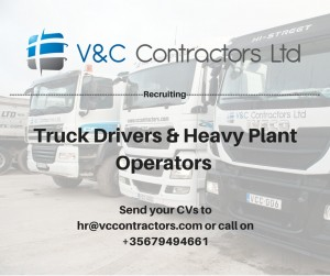 Truck drivers and heavy plant operator advert